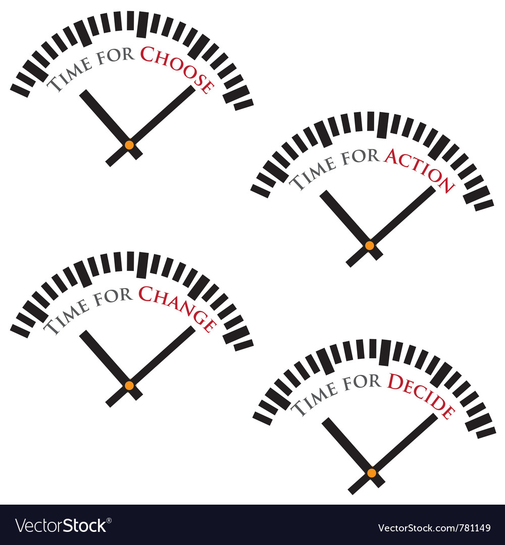 Set of time concepts vector | Price: 1 Credit (USD $1)