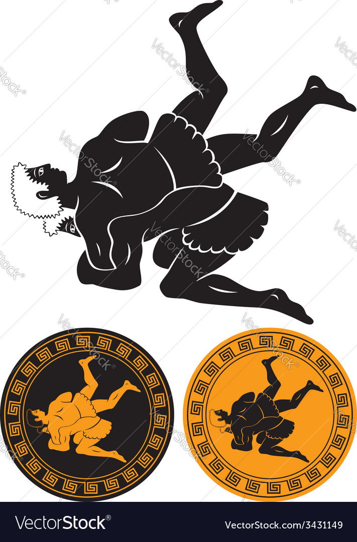 Wrestling vector | Price: 1 Credit (USD $1)