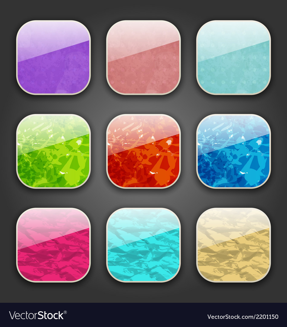 Backgrounds with grunge texture for the app icons vector   Price: 1 Credit (USD $1)