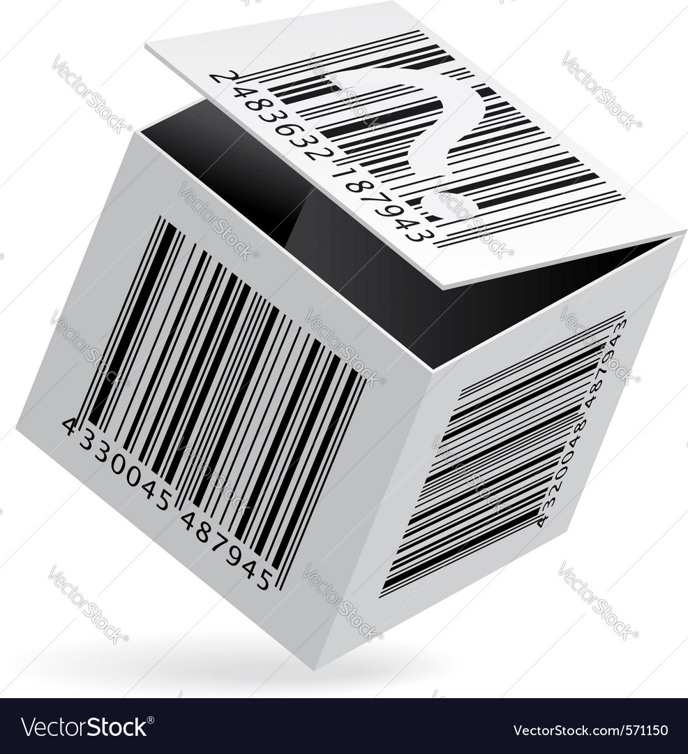 Bar code box vector | Price: 1 Credit (USD $1)