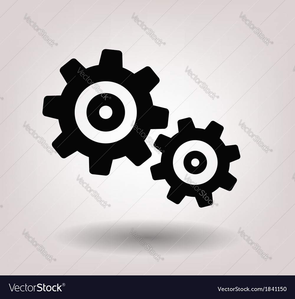 Black gearwheel mechanism vector | Price: 1 Credit (USD $1)