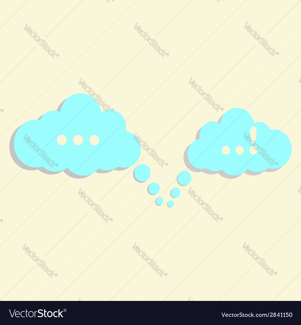 Communication clouds vector | Price: 1 Credit (USD $1)
