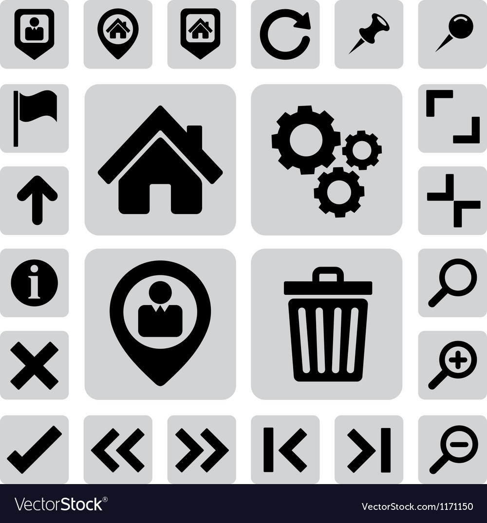 Internet icons set eps 10 vector | Price: 1 Credit (USD $1)