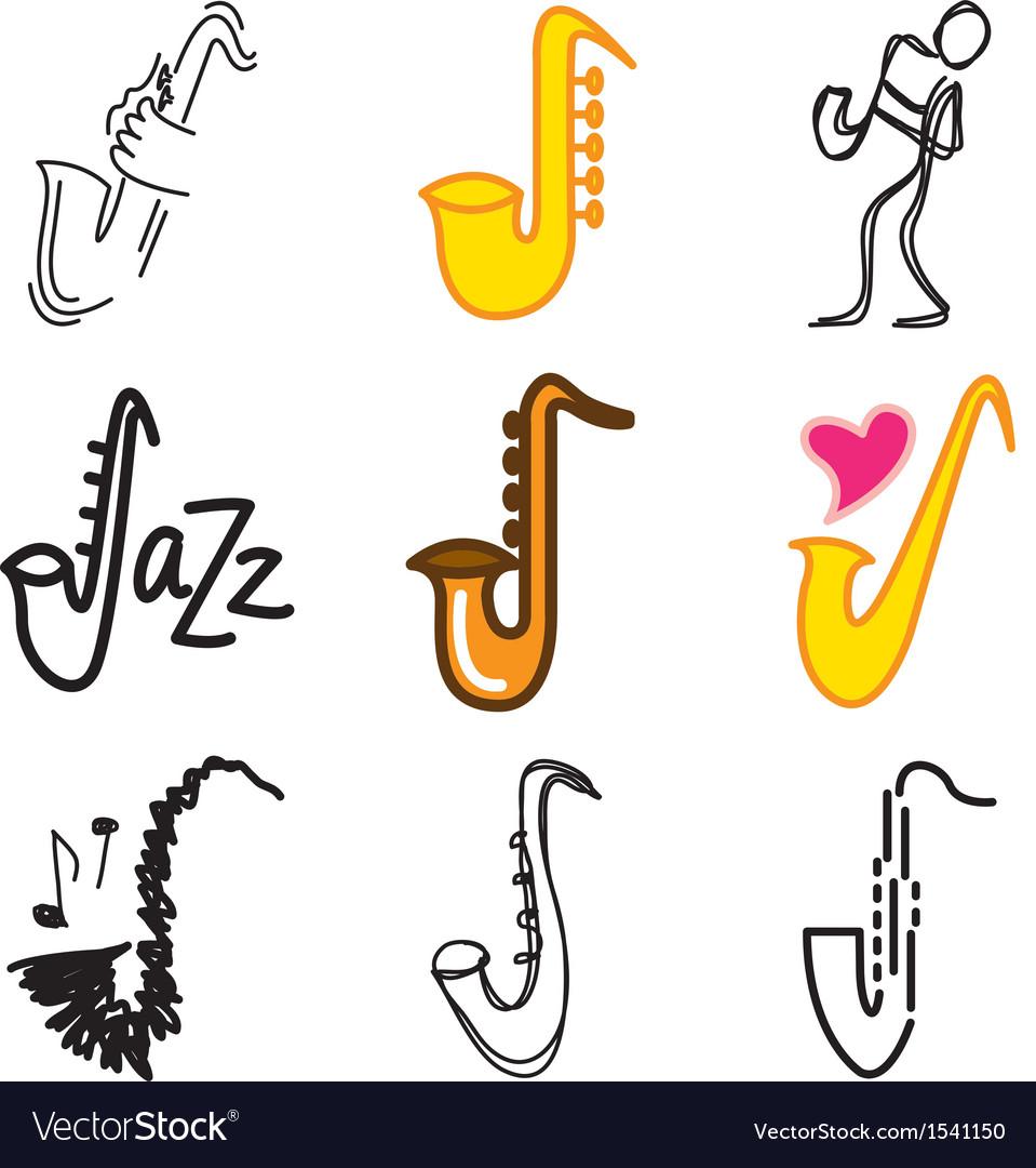 Logo icons saxophon vector   Price: 1 Credit (USD $1)