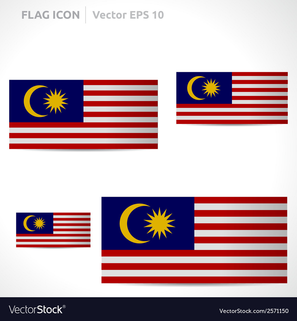 Malaysia flag template vector | Price: 1 Credit (USD $1)