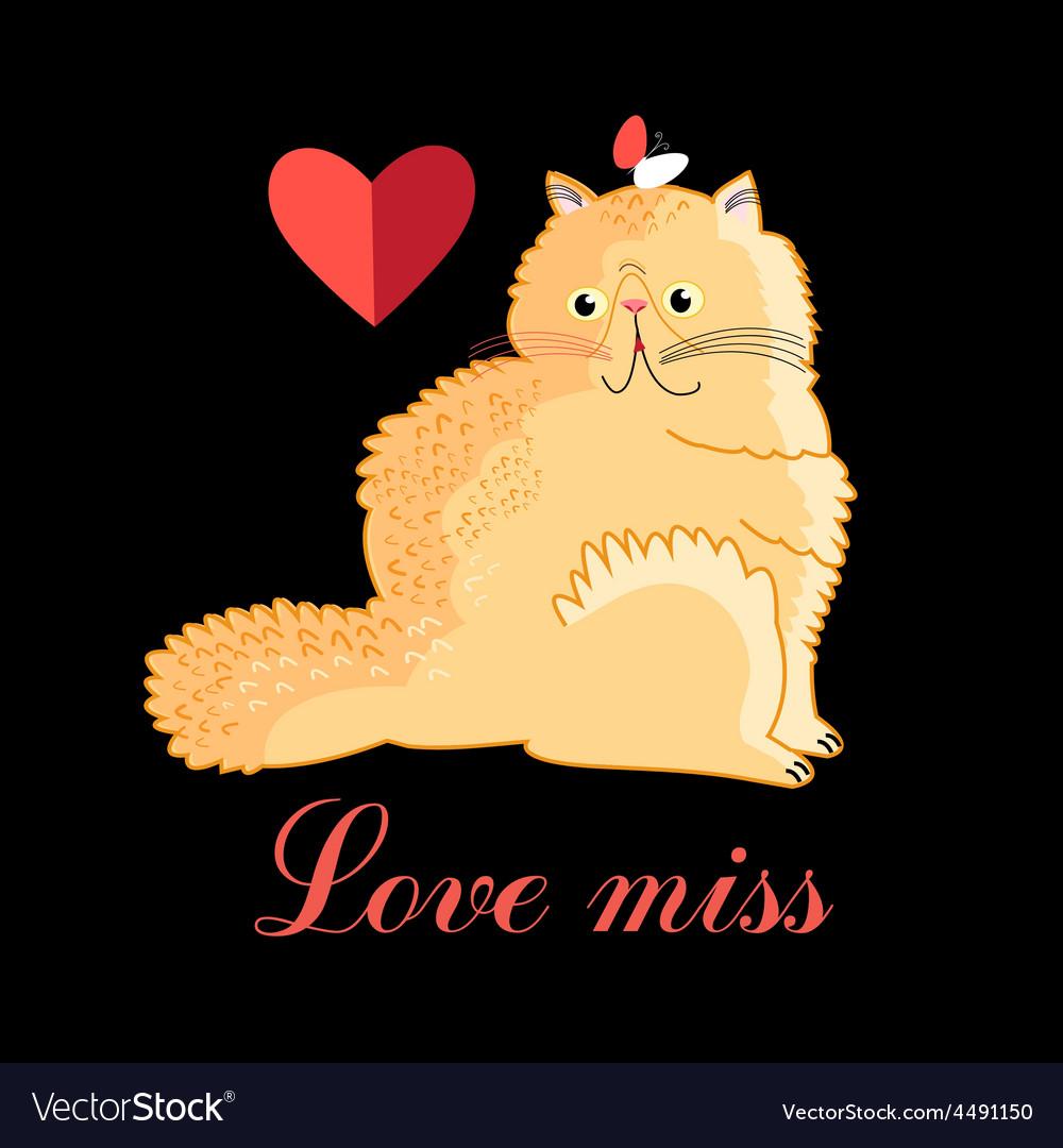 Persian cat in love vector | Price: 1 Credit (USD $1)
