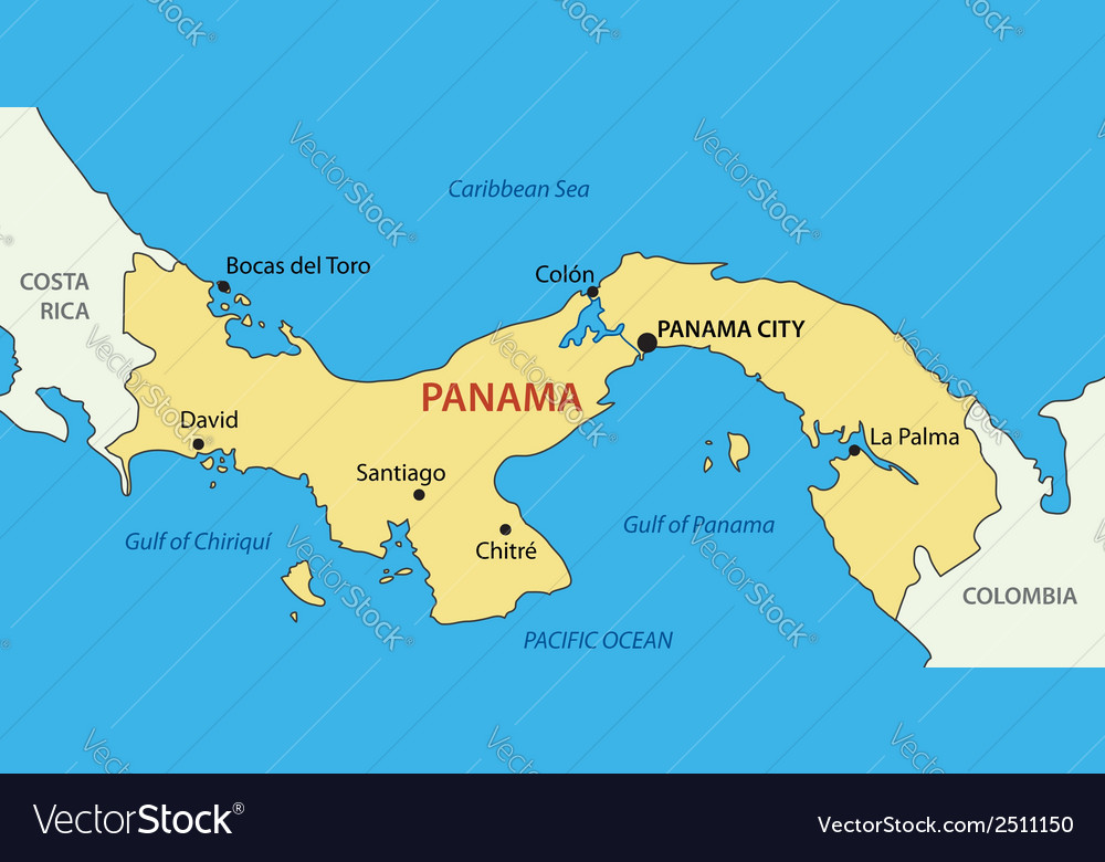 Republic of panama - map vector | Price: 1 Credit (USD $1)