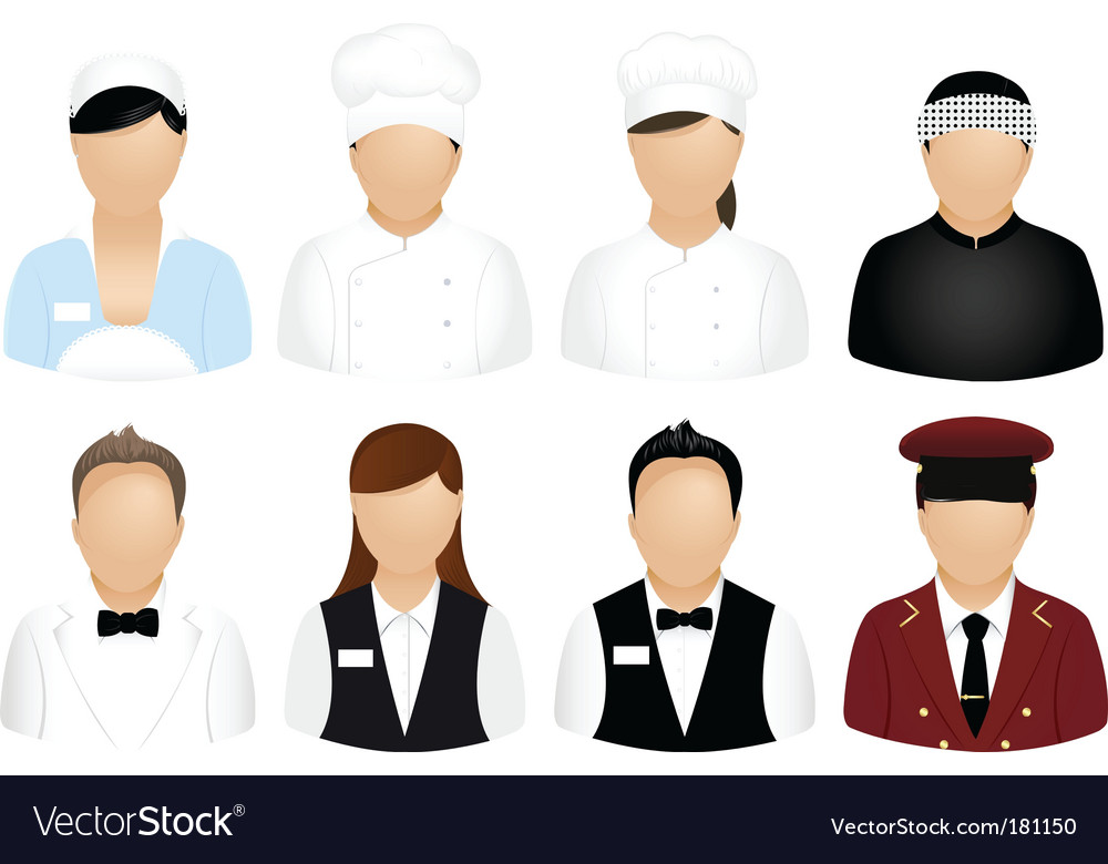 Restaurant people icons vector | Price: 1 Credit (USD $1)