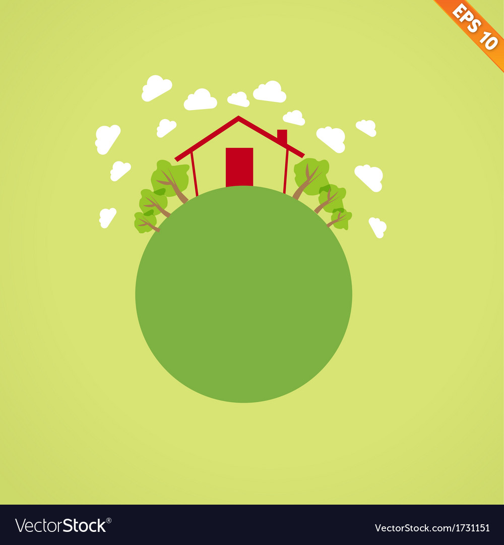 Abstract globe with environmental concept - illus vector | Price: 1 Credit (USD $1)