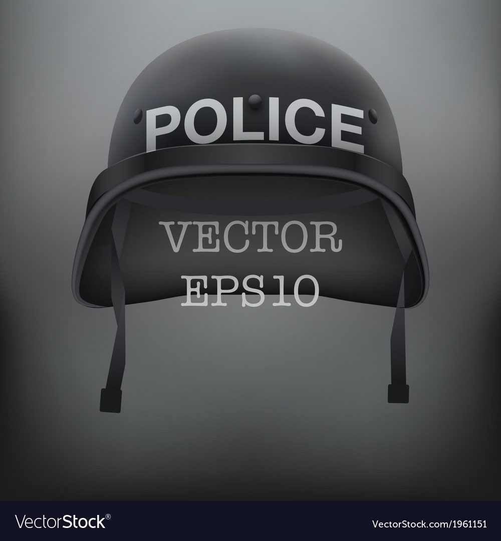 Background of police black helmet vector | Price: 1 Credit (USD $1)