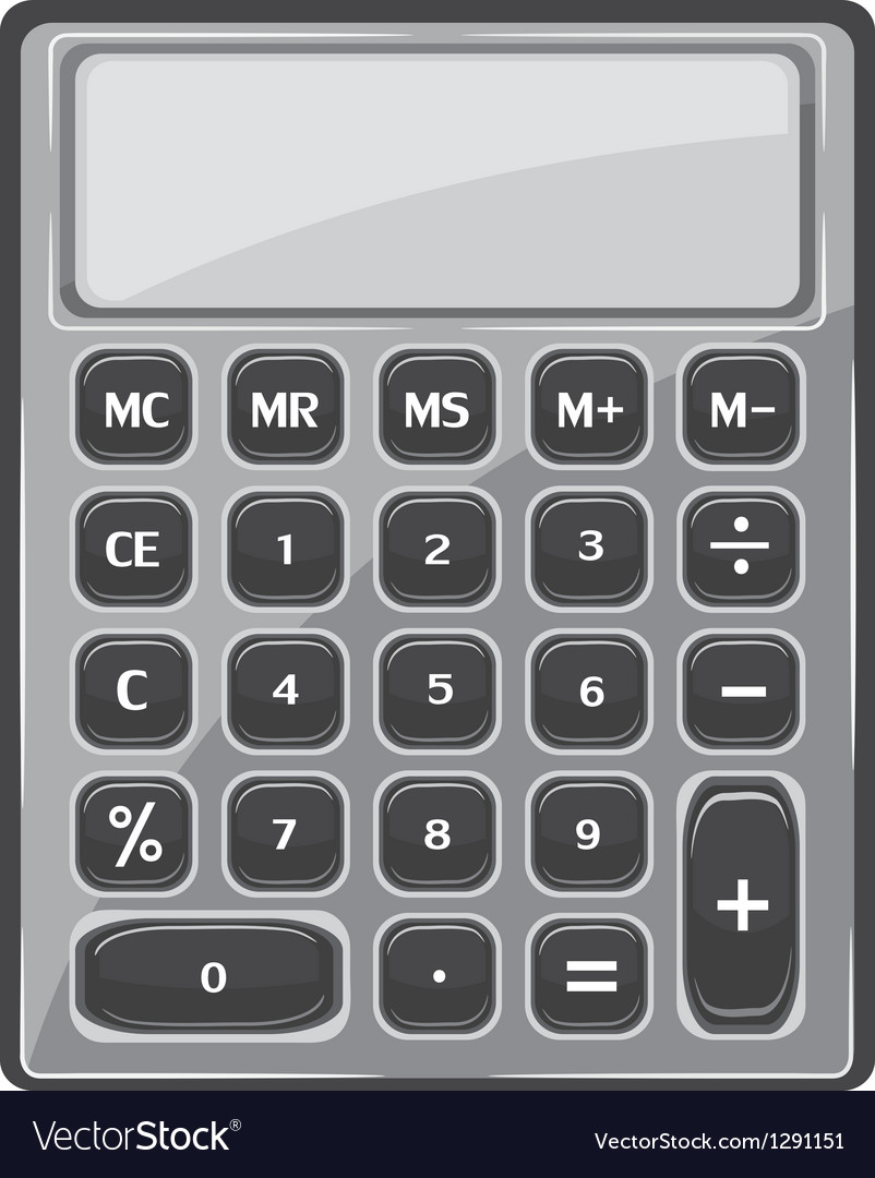 Calculator vector | Price: 1 Credit (USD $1)
