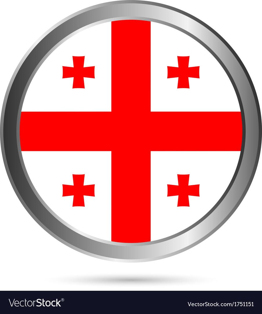 Georgia flag button vector | Price: 1 Credit (USD $1)