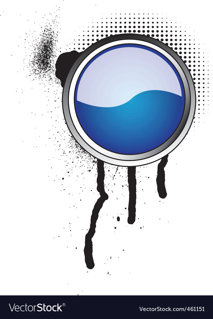 Grunge button icon vector   Price: 1 Credit (USD $1)