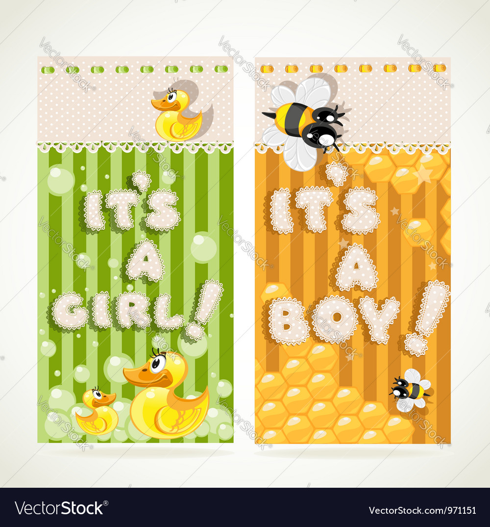 Its a boy and its a girl vertical banners 1 vector | Price: 3 Credit (USD $3)