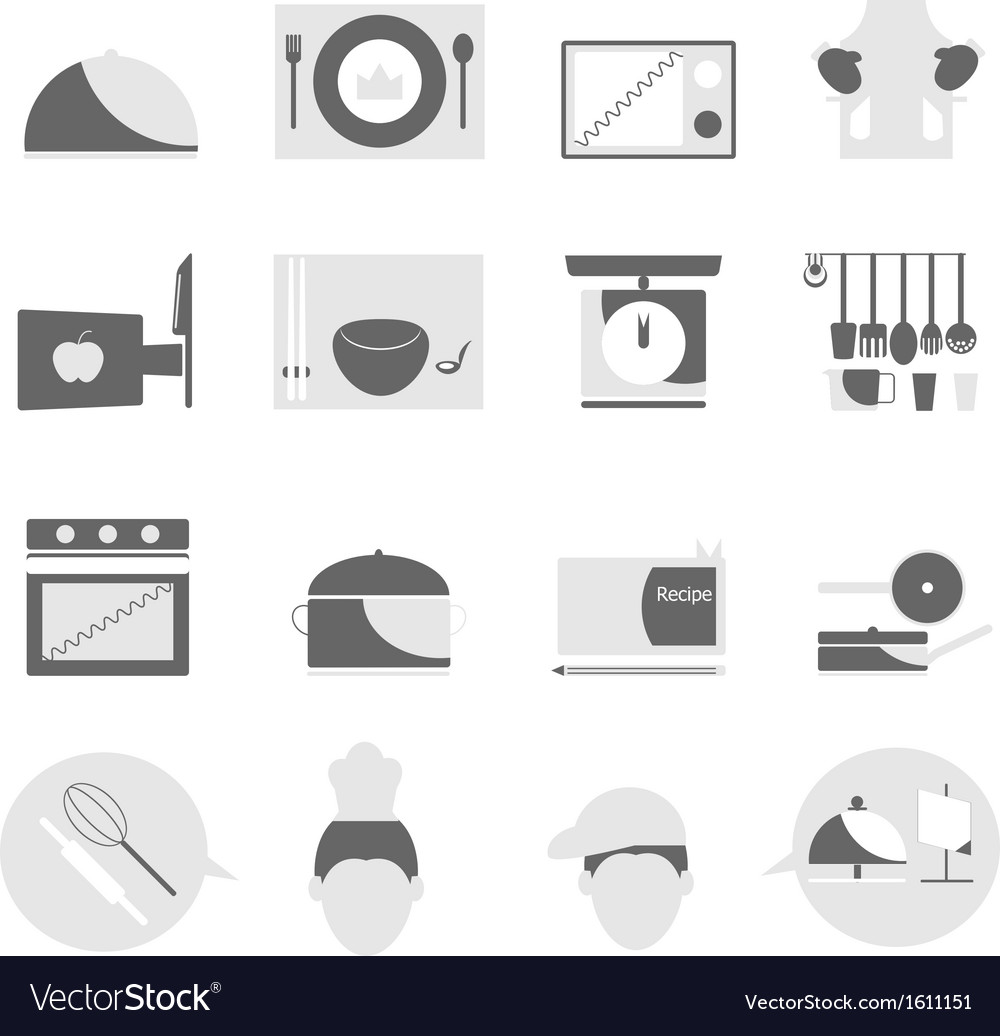Kitchen icons on white background vector | Price: 1 Credit (USD $1)