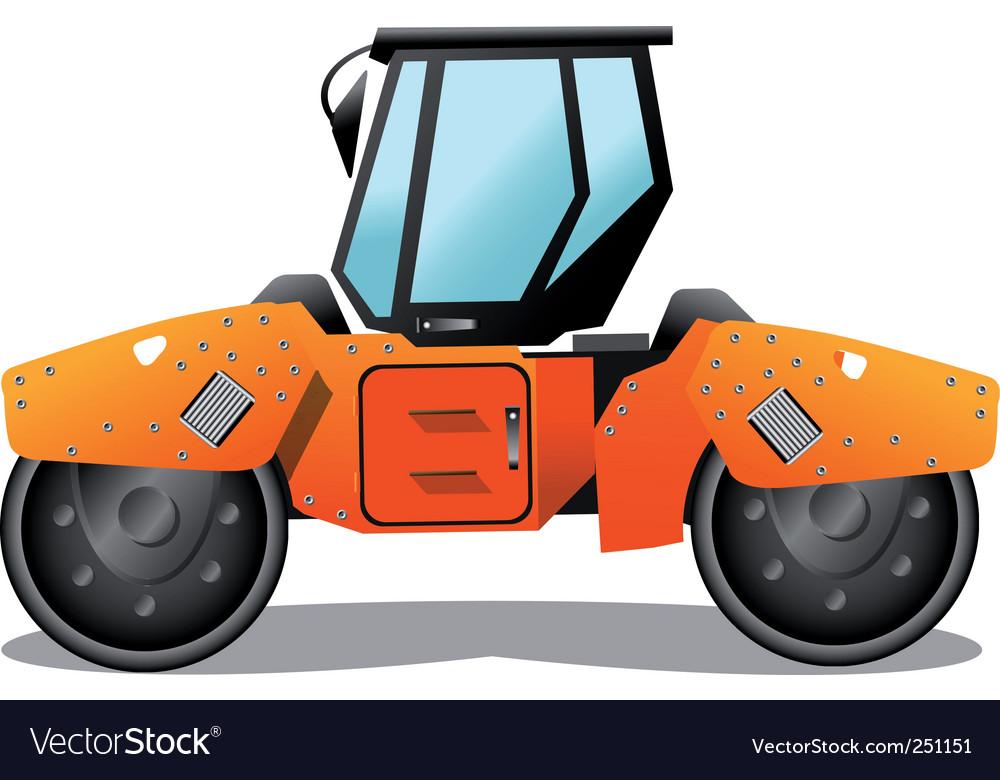 Road roller vector | Price: 1 Credit (USD $1)