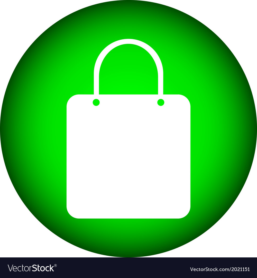Shopping bag button vector | Price: 1 Credit (USD $1)
