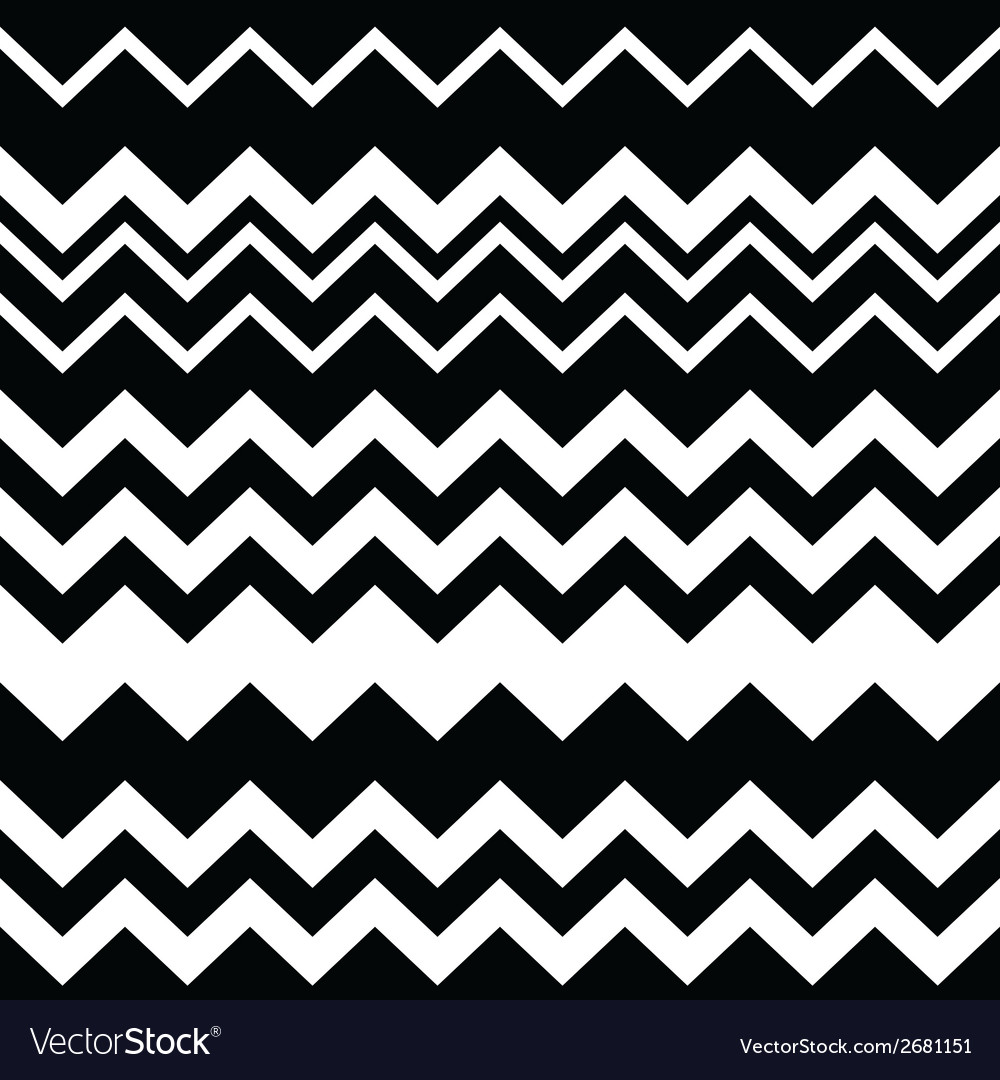 Tribal aztec zigzag black and white pattern vector | Price: 1 Credit (USD $1)