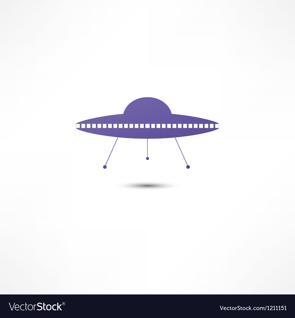 Ufo icon vector | Price: 1 Credit (USD $1)