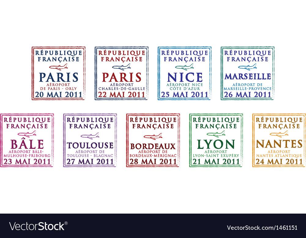 Various passport stamps vector | Price: 1 Credit (USD $1)