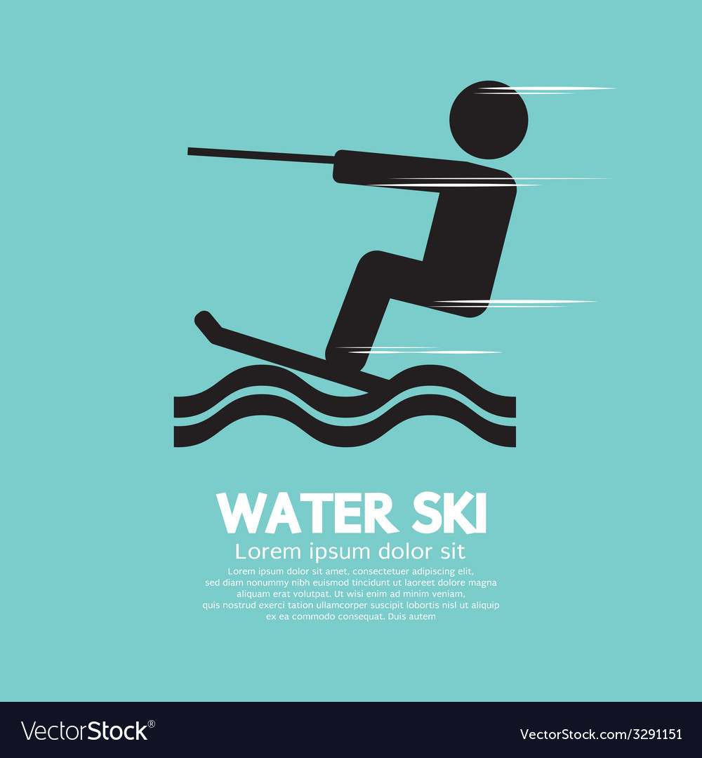 Water ski sport sign vector | Price: 1 Credit (USD $1)