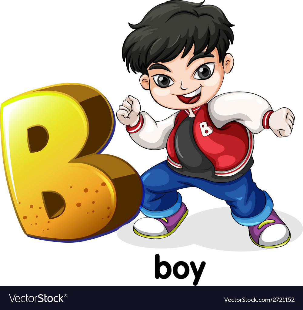A letter b for boy vector | Price: 1 Credit (USD $1)