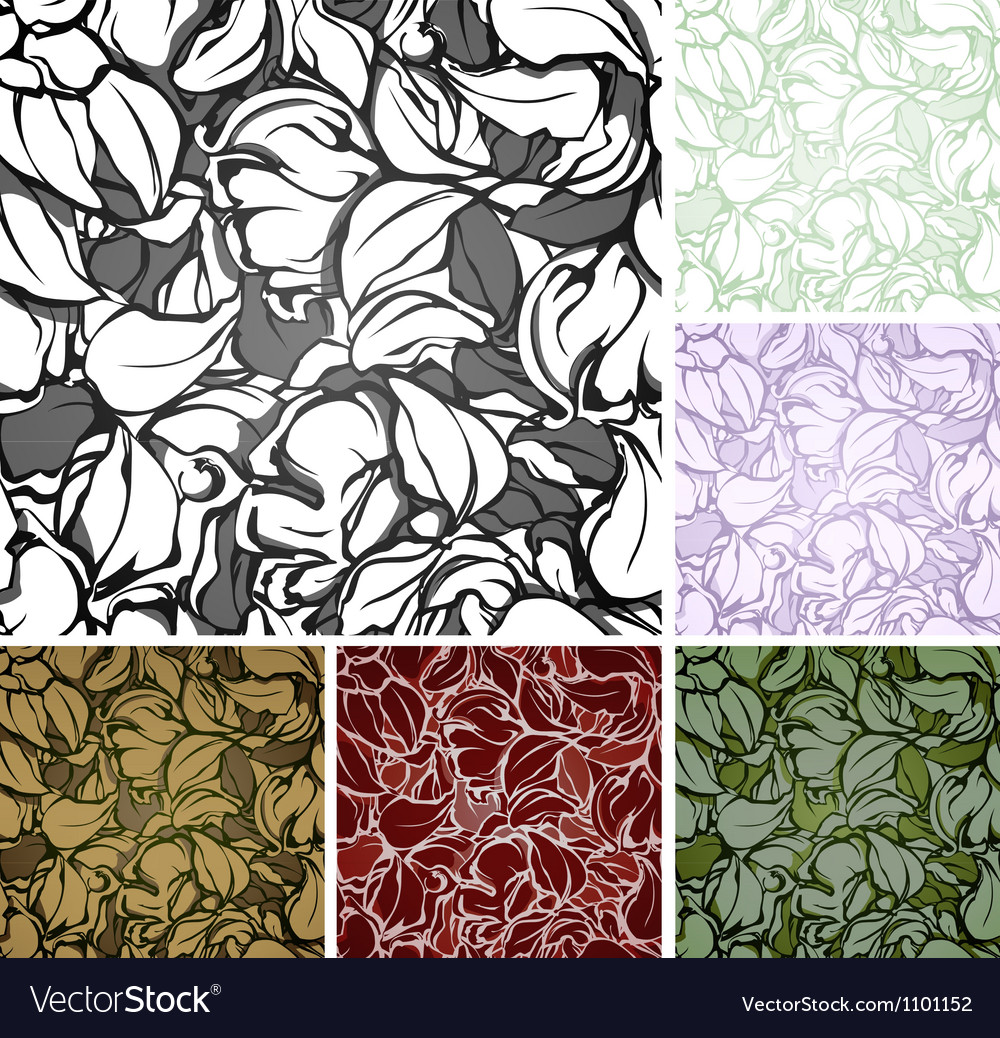 Abstract seamless pattern set vector | Price: 1 Credit (USD $1)