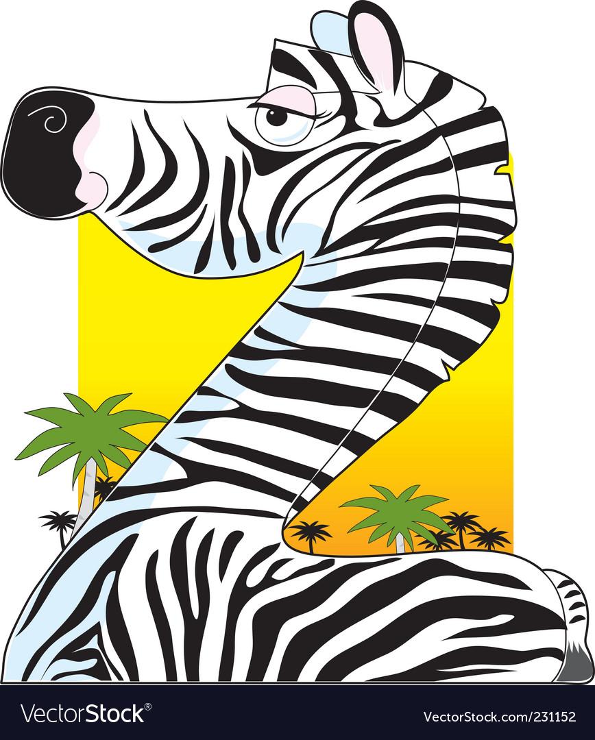 Animal alphabet zebra vector | Price: 1 Credit (USD $1)