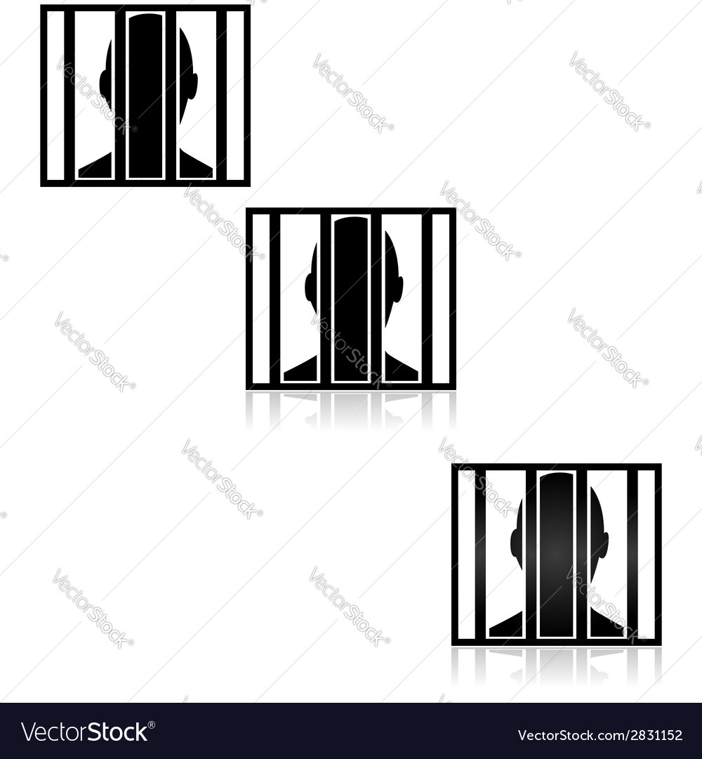 Behind bars vector | Price: 1 Credit (USD $1)