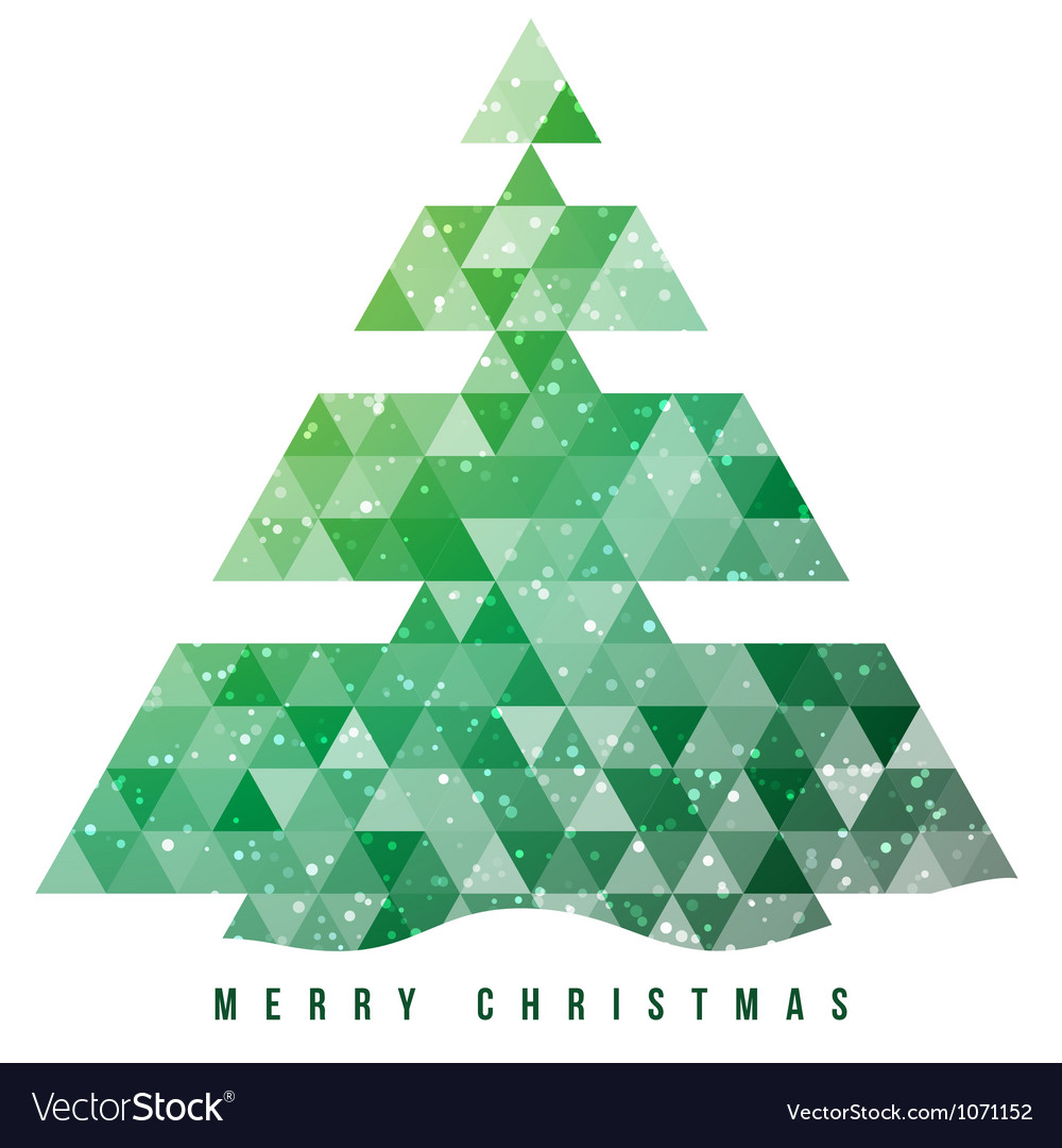 Christmas tree and decorations background vector
