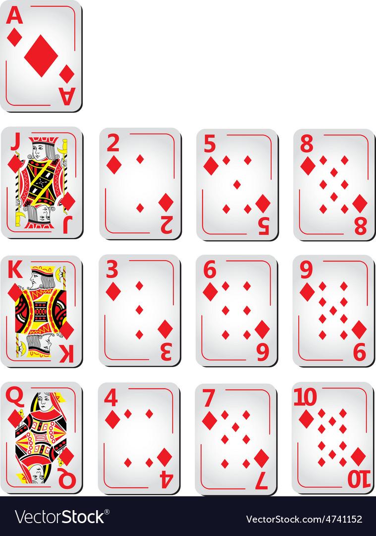 Diamond cards full series vector | Price: 1 Credit (USD $1)