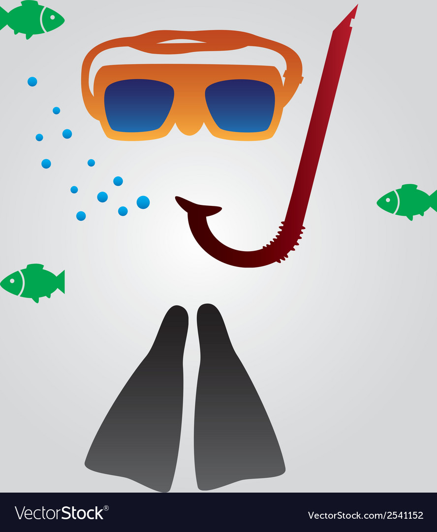 Diving and snorkeling equipment eps10 vector | Price: 1 Credit (USD $1)