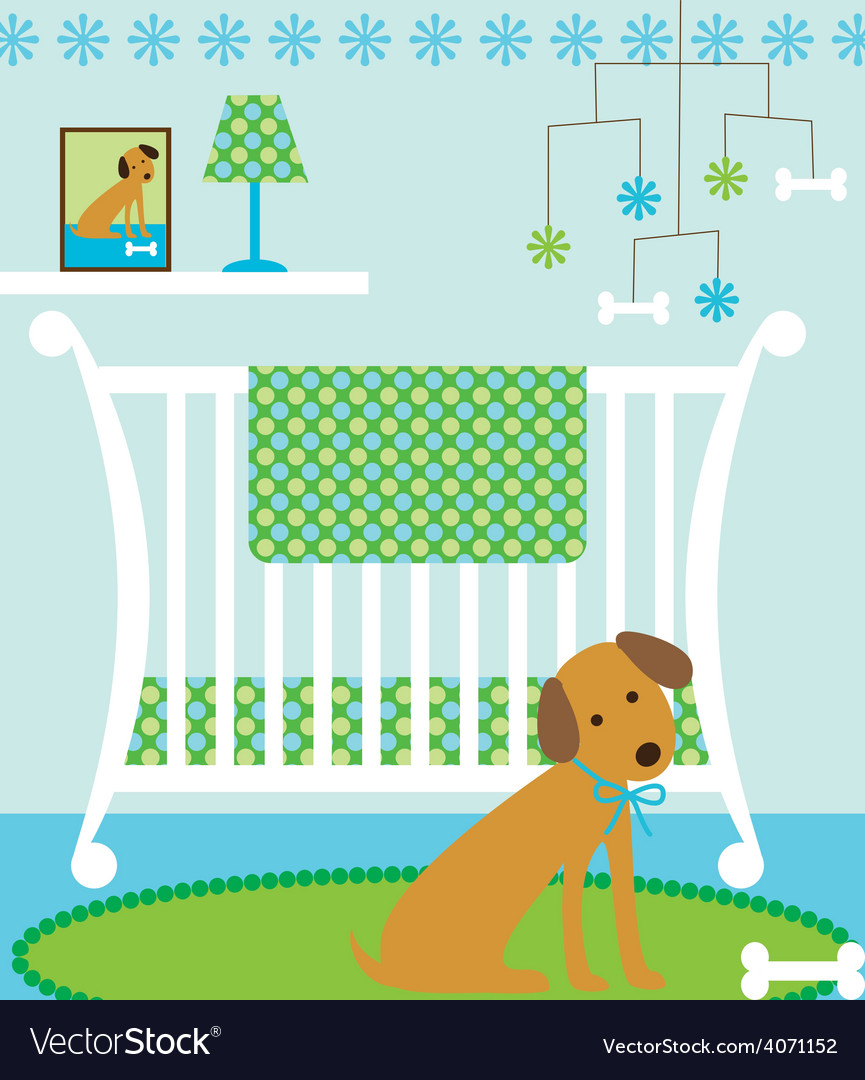 Dog nursery vector | Price: 1 Credit (USD $1)