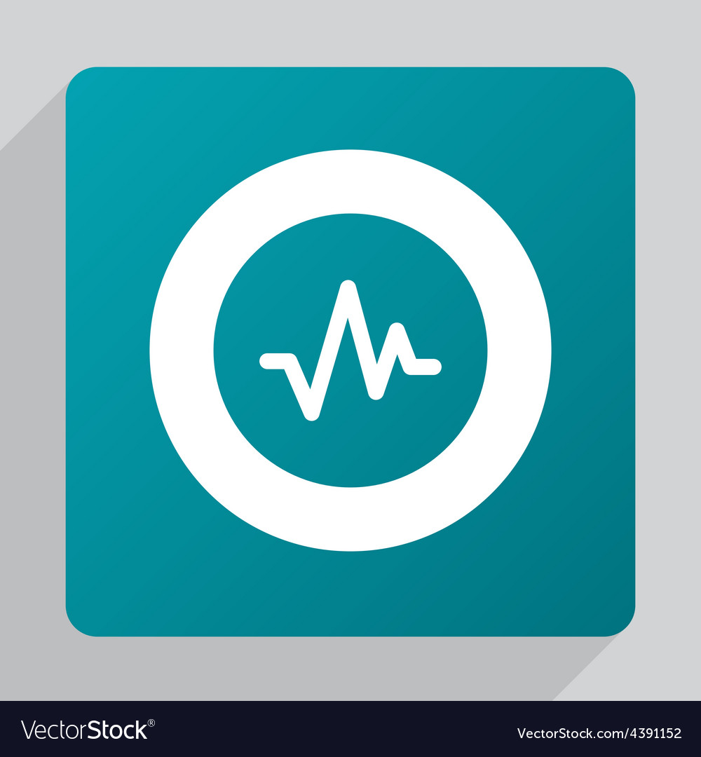 Flat pulse icon vector | Price: 1 Credit (USD $1)