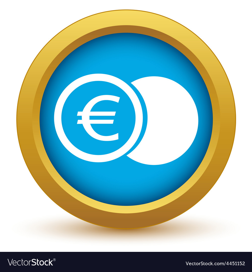Gold euro coin icon vector | Price: 1 Credit (USD $1)
