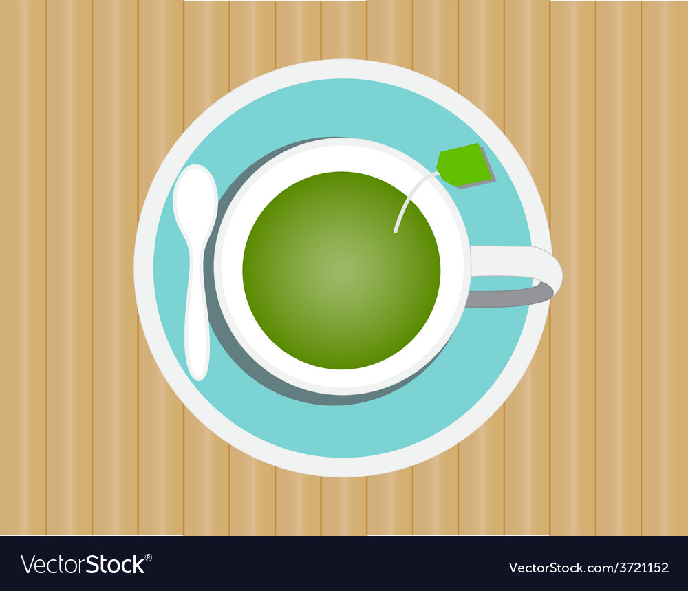 Green tea in glass vector | Price: 1 Credit (USD $1)
