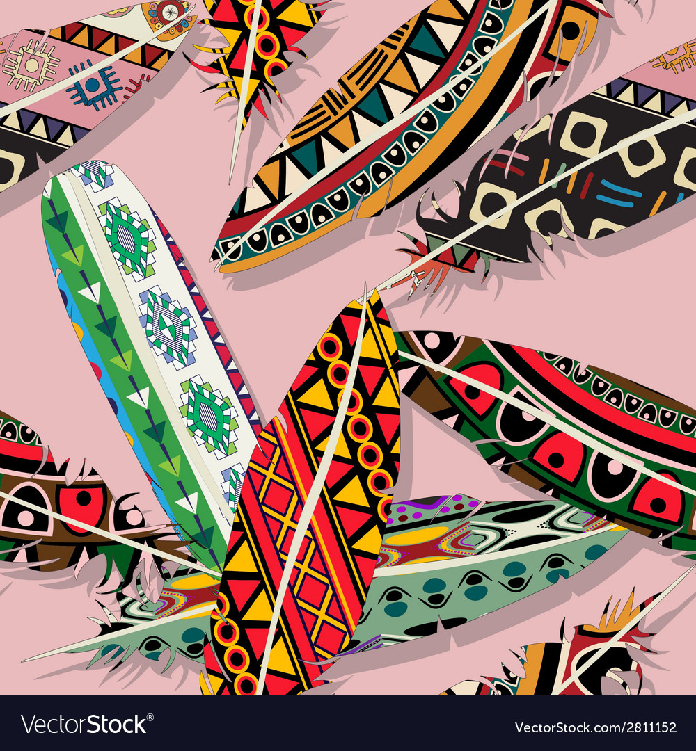 Ikat feather pattern vector | Price: 1 Credit (USD $1)