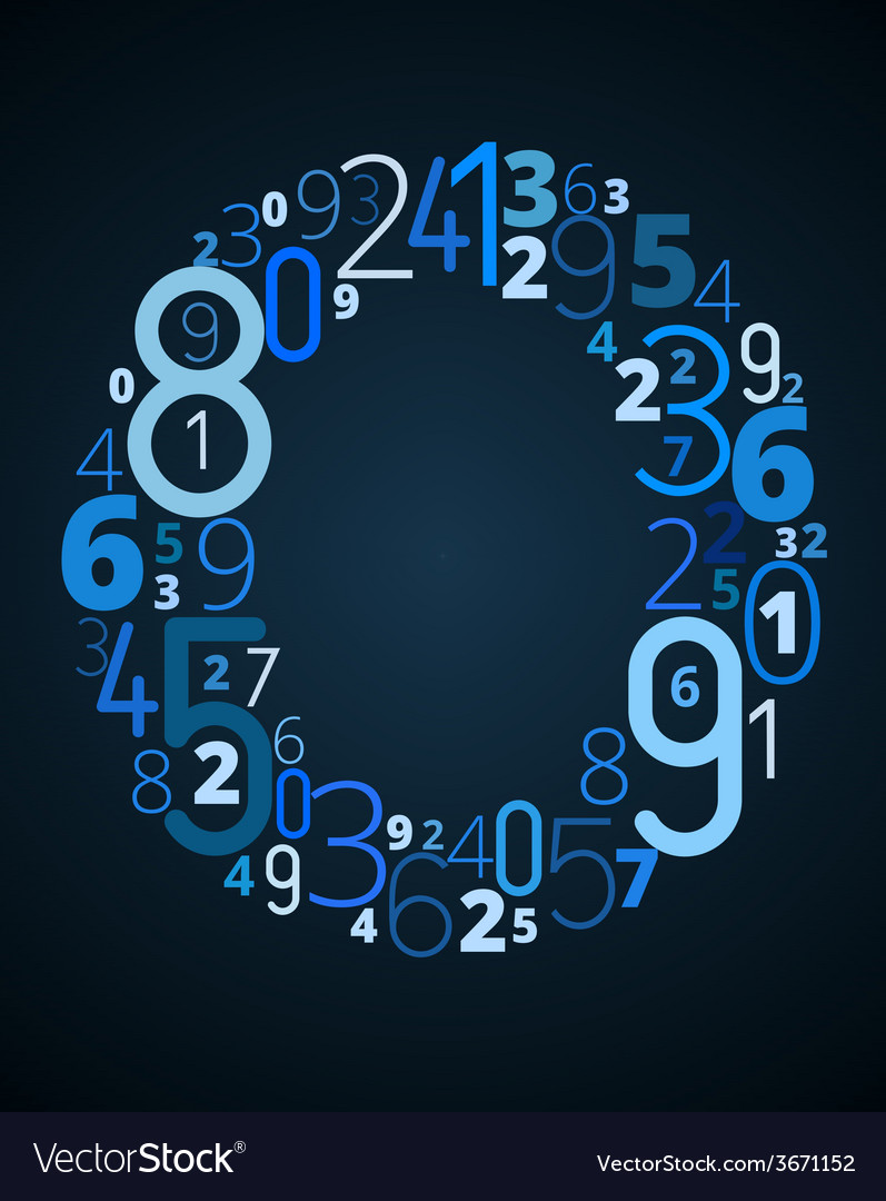 Letter o font from numbers vector   Price: 1 Credit (USD $1)