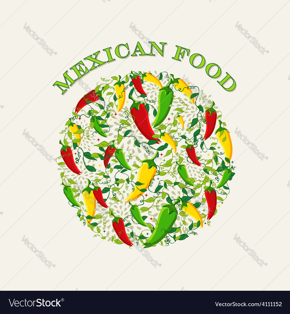 Mexican food concept background vector | Price: 1 Credit (USD $1)
