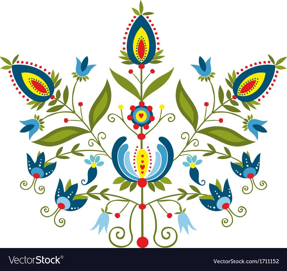 Polish folk with ornamental floral vector | Price: 1 Credit (USD $1)