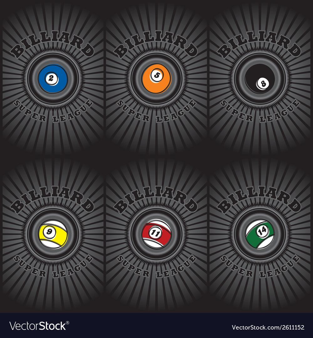Pool ball designs vector | Price: 1 Credit (USD $1)