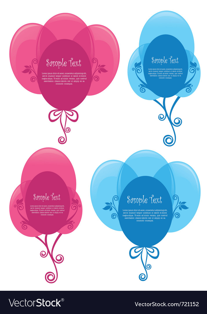 Present balloons vector | Price: 1 Credit (USD $1)