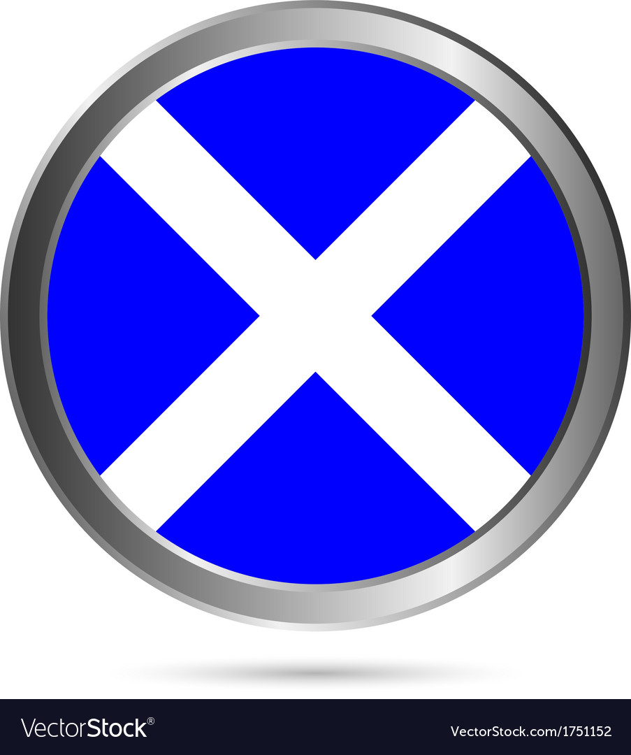 Scotland flag button vector | Price: 1 Credit (USD $1)