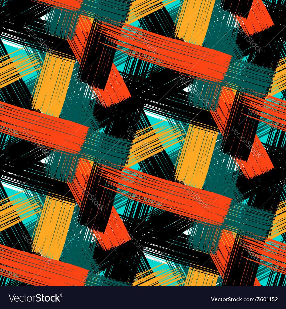 Seamless bold plaid pattern vector | Price: 1 Credit (USD $1)