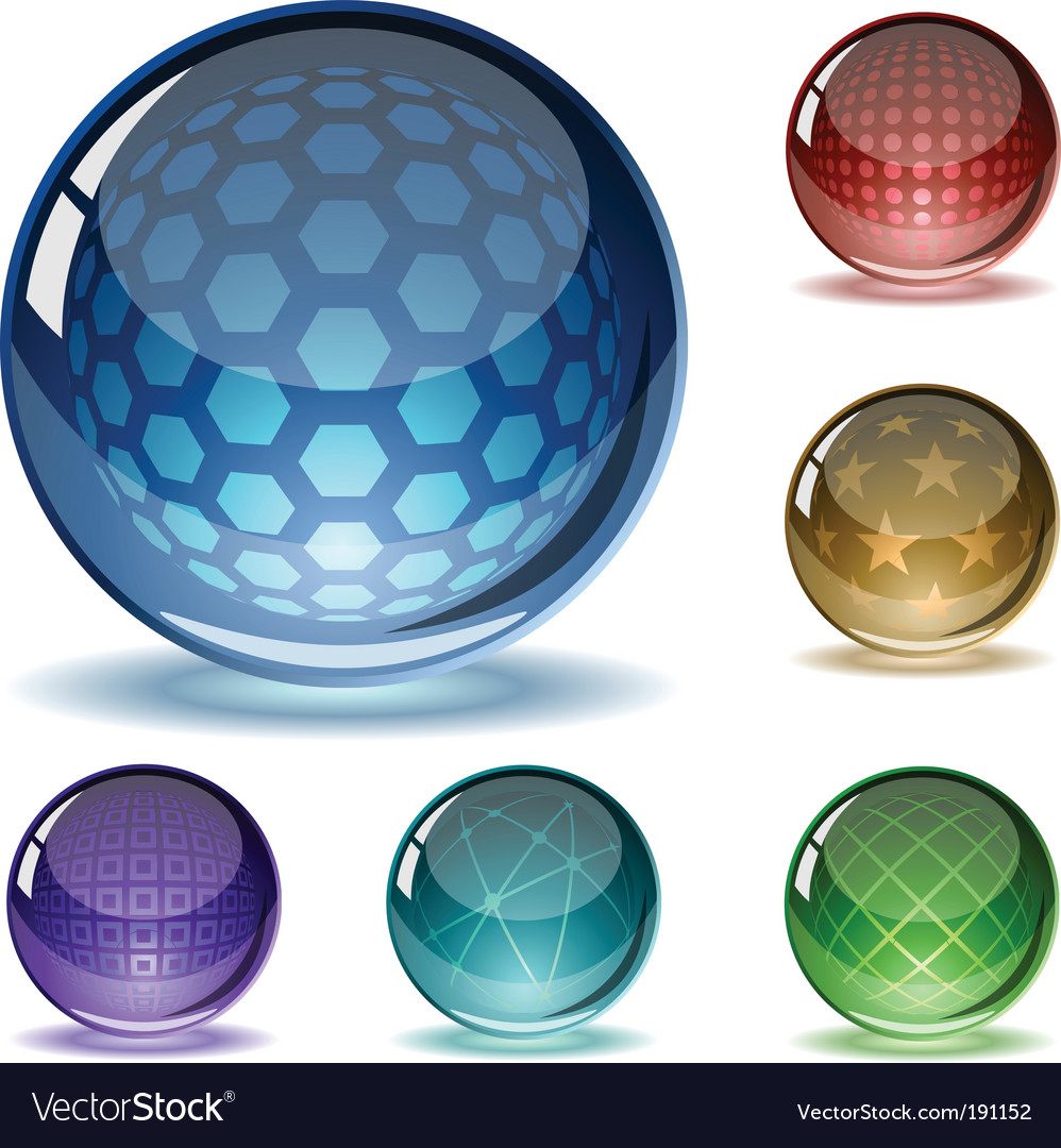 Spheres set vector | Price: 1 Credit (USD $1)