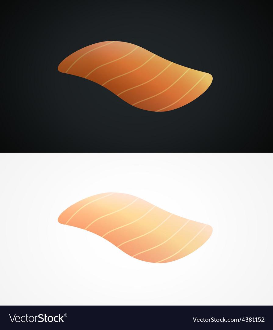 Steak of raw salmon fish vector | Price: 1 Credit (USD $1)