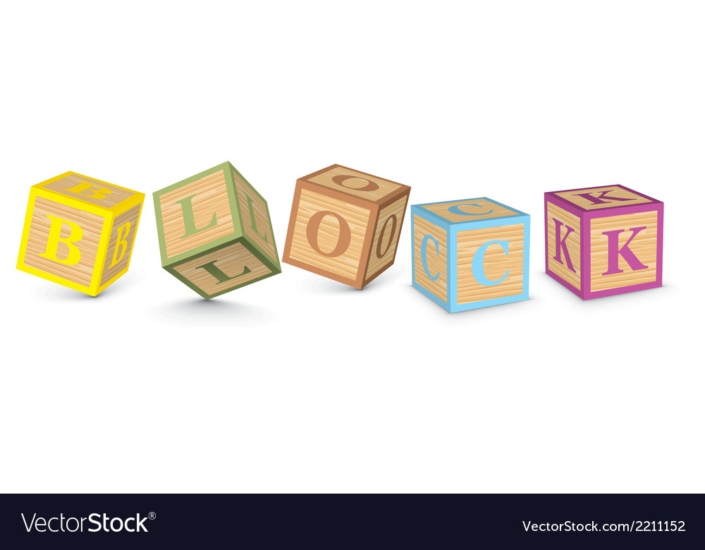 Word block written with alphabet blocks vector | Price: 1 Credit (USD $1)