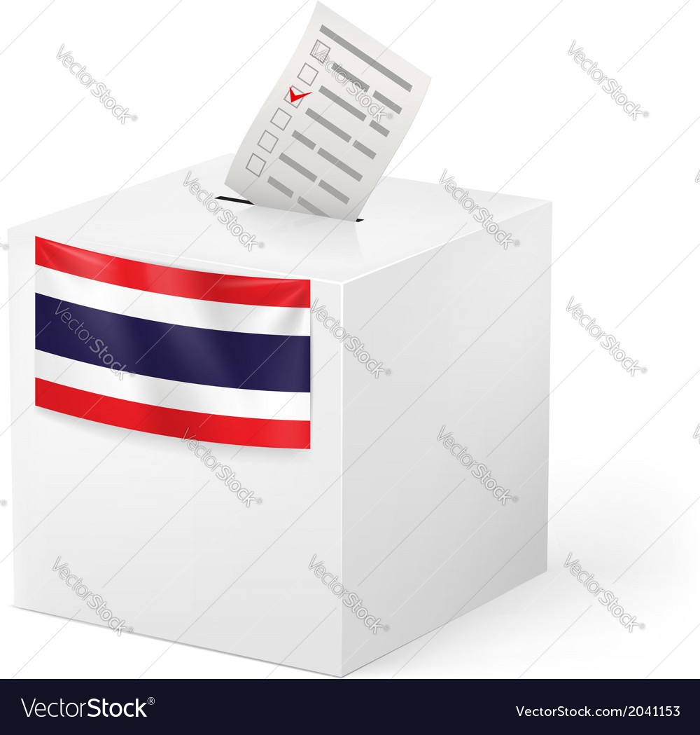 Ballot box with voicing paper thailand vector | Price: 1 Credit (USD $1)