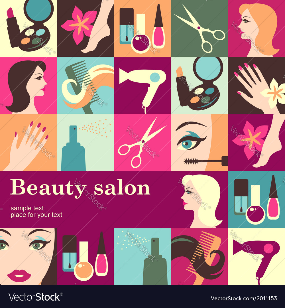 Beauty salon vector | Price: 1 Credit (USD $1)