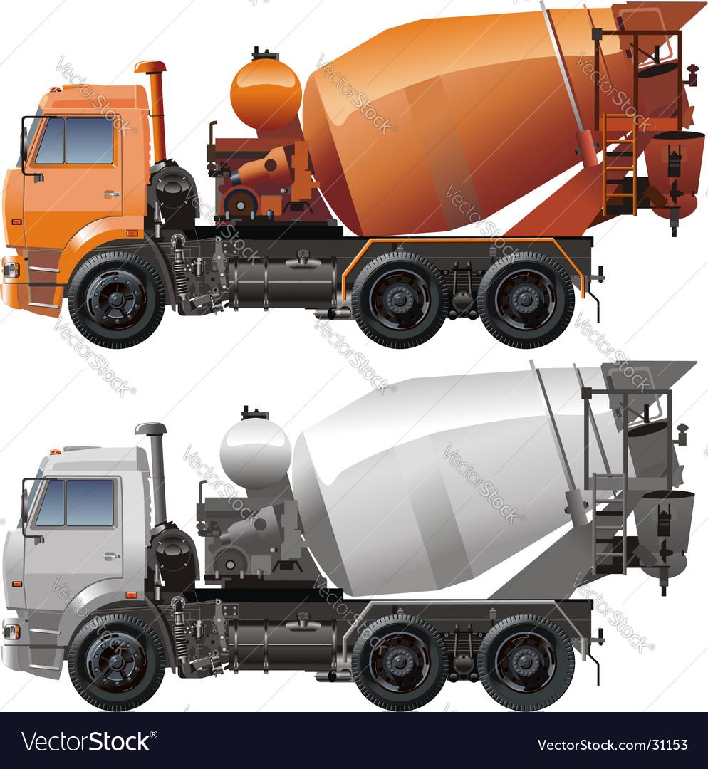 Cement truck vector   Price: 3 Credit (USD $3)
